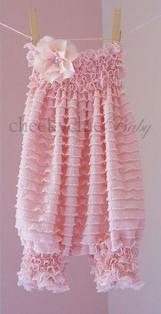 Vintage Ruffle Romper by Cheeky Chic Baby Pink by cheekychicbaby, $42.00