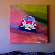 Painting I painted in college, hanging in my living room!
