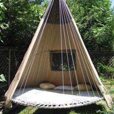 Hanging teepee/ hammock