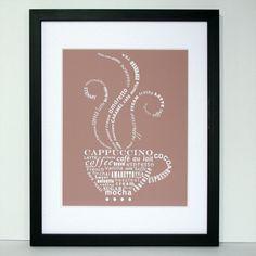 Coffee Talk #typography print.