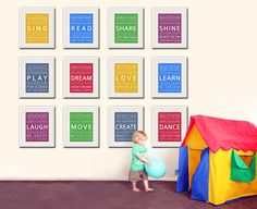 Adorable for a play room...