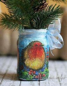Christmas Craft - Jar Recycling Craft 2