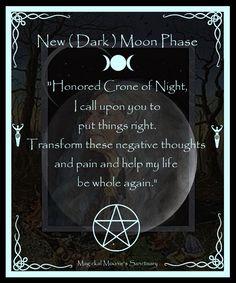 New Moon Phase, Magickal Moonie's Sanctuary