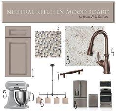 Neutral Kitchen Mood Board | Brass & Whatnots