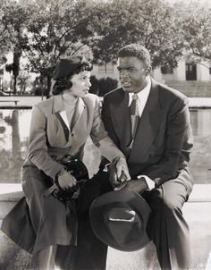 """I believe that often young performers, lacking a continuity of experience, lacking a knowledge of the history of entertainment, of the tradition and great contributions that our people have made to theater, may tend to feel that a whole new world begins with each newcomer. Not so."" ~ Ruby Dee, shown here with baseball icon Jackie Robinson in a scene from the 1950 biopic of his life. Ms. Dee died at the age of 91 on June 11, 2014. Photo: Schomburg."