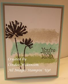 Just Sponge It: Quick & Cute All Occasion Card Class. Too Kind stamp set.