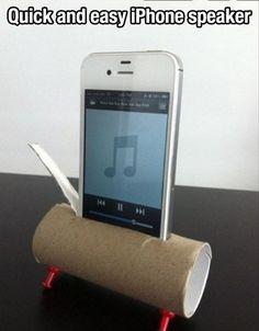 life hacking, make life easier, toilet paper rolls, speaker, ipod, toilet paper tubes, thought, redneck, life changing