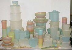 pastel Tupperware.