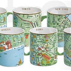 Seletti map mugs