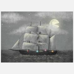 Ghost Ship Canvas, $75, now featured on Fab.