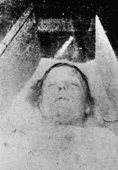 The corpse of Mary Ann Nicholls, murdered by Jack the Ripper at Bucks Row, August 31, 1888.