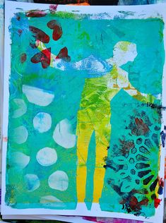 Printing with Gelli Plates and @Dina Wakley