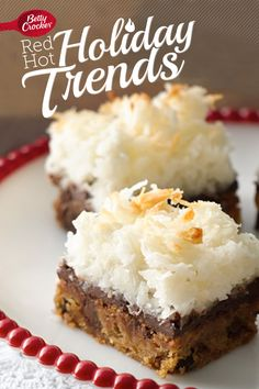 Trend 9: Merry Mashups {Brown Butter Blondies with Macaroon Topping} #MakeMerry