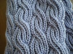 Steps and Stitches: Reversible Cabled Brioche Stitch Scarf