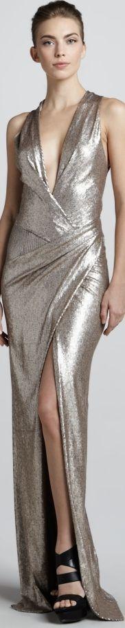 Donna Karan.... vestido, silver