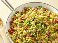 Quinoa Succotash meatless main, green, vegetables, grilled meats, main dishes, quinoa succotash, grill meat, side dish, healthi recip