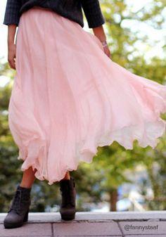 Circle Maxi Skirt//