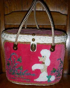 Pink Velvet poodle purse! Posted by Redlandspoodles.com
