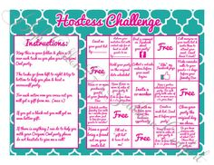 Hostess Challenge Game inspired by Origami Owl - would be cool to change to Thirty-one maybe for a party to go kit too?