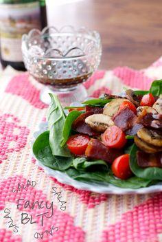 Fancy BLT Salad {recipe via Simply Happenstance} #paleo #blt #salad