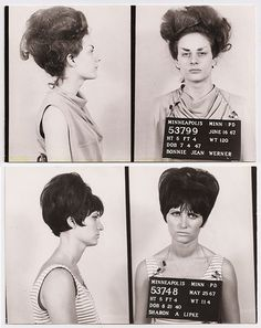 Female mugshots from the 1960s.