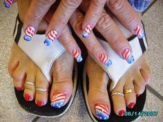 4th July day nail art