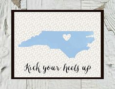 """UNC Chapel Hill Print """"Kick Your Heels Up"""" by CraftandCandor on Etsy, $12.00"""
