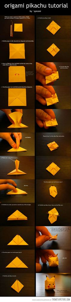 gonna give this to someboday -origami pikachu