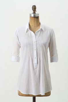 Swingy Chambray Tunic #anthropologie