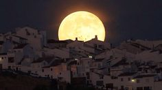 Supermoon over Southern Spain last night.