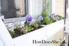 Window Box tutorial. Handmade Mother's Day Gift Ideas howdoesshe.com #mothersdayideas