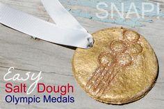 Easy Salt Dough #Olympic Medals - kids activity