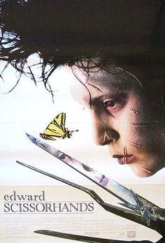 Edward Scissorhands, 1990: American Romance, Horror, Gothic and fairy tale hybrid film. Director, Tim Burton; starring Johnny Depp.