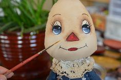 """Raggedy Annie ~ Face Painting Tutorial....(a very nice tutorial. love the pics! directions can also apply to other kinds of personalities (""""doll types"""") other than a raggedy, too!)..."""