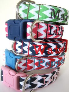 Custom dog collar-not that I own a dog but IF I did, these would be super cute!!