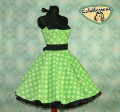 50's vintage dress full skirt