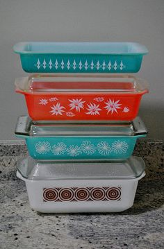 stack of pyrex bakers ~ Australia