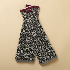 SNOWFLAKE FINGERLESS GLOVES