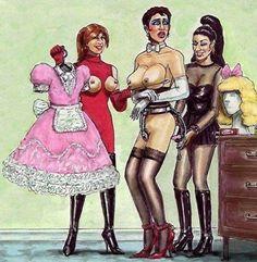 Love this Forced Feminization, Sissy Fetish Art! www.studiojezebel.com
