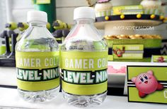 GAME TRUCK Gamer Personalized Water Bottle Labels & by lulucole, $5.00  #gametruck #party #favors #videogame