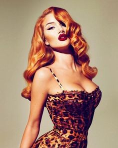 Not that I think she's an amazing actress or anything, but she does make a GREAT classic pin-up beauty. Whew.