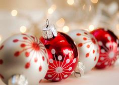 Red & Silver Christmas Ornaments