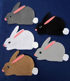 Hippety-hop, Hippety-hay or 5 Little Bunnies