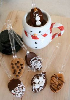 Flavored hot chocolate spoons - wonder if skinny chocolate would be good?