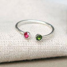 Mother & child birthstone ring