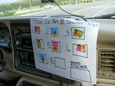 Help pass the time on a road trip with a car full of littles. Make a sticker chart and add a sticker every 30 minutes to count down the time!