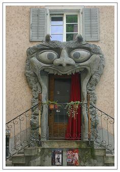 Monster mouth door. Switzerland