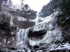Kaaterskills Falls in winter. CATSKILLS, NY. Relocating? Investing? Call Upstate NY & Catskill's Real Estate & Land Expert. Kellie Place at Century 21 ~ 607-434-5263 http://www.century21upstatenewyork.com/