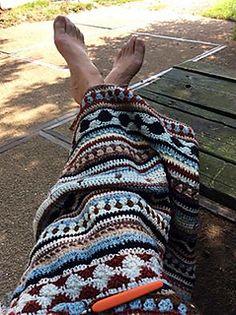 As We Go Stripey Blanket