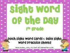 This pack is 70 pages of sight word fun. There are 41 sight word cards and 41 corresponding sight word practice sheets. Many different ways this can be used. $5.00